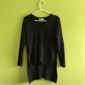 { bcbgeneration } black knit high low sweater